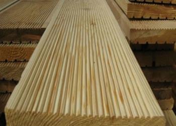 Террасная доска из сибирской лиственницы сорт А 28мм*140мм от производителя.