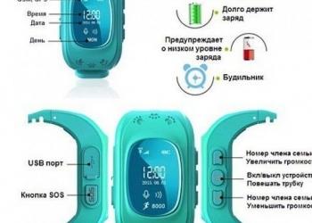 Детский GPS трекер часы телефон
