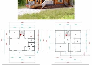 Двухэтажный жилой дом 10*9,8м (196м2) Каменная вата на Базальтовой основе в ПОДА