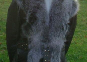 Куртка Acasta. Натуральные кожа и мех лисы.