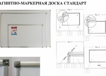 Магнитно-маркерная доска стандарт - инструмент креативной рекламы