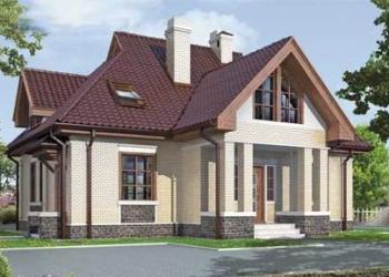 Дом из кирпича 12 х 12,5. Площадью: 178,7 м2
