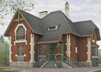 Кирпичный дом 11 х 14,5. Площадью: 182,9 м2