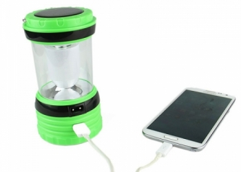Лампа аккумуляторная с солнечной батареей