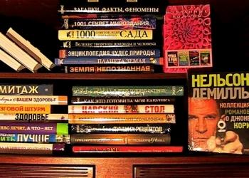 домашняя библиотека из современных книг