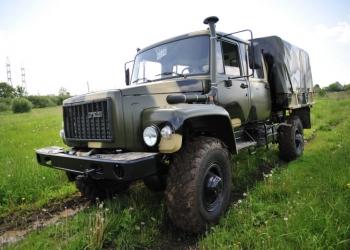 Автомбиль с двухрядной кабиной на шасси ГАЗ 33081Садко Борт-Тент