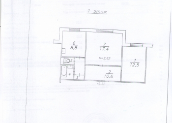 2-к квартира, 54 м2, 1/10 эт.
