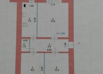 3-к квартира, 52 м2, 1/2 эт.