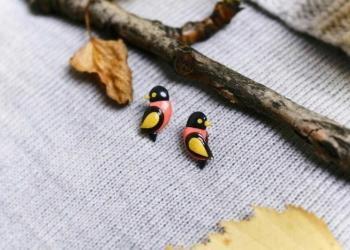 Осенние серьги-гвоздики