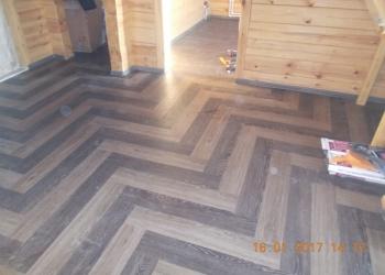 Укладка виниловой плитки на пол, на стены