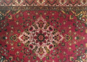 Великолепный винтажный ковёр из натуральной шерсти. Узбекская ССР. Ручная работа