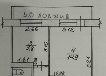 1-к квартира, 34 м2, 3/9 эт.