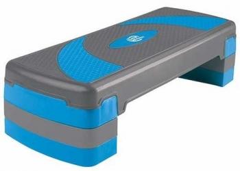 Степ-платформа 3-х уровневая (79,5*30*20см, серый/голубой)