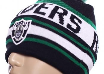 Шапка Raiders NFL зимняя с помпоном и логотипом баскетбол с доставкой по России