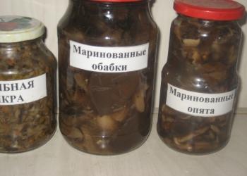 Грибы маринованные и соленые
