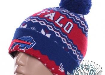 Шапка зимняя Buffalo New Era с помпоном баскетбол хип хоп с доставкой по России