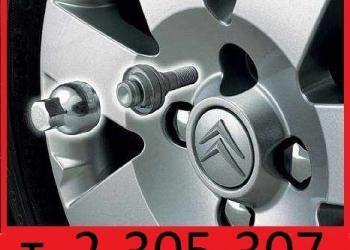 Снять секретки с колес без ключа.