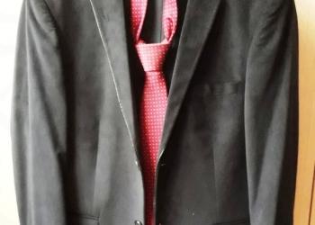 Костюм мужской синего цвета (пиджак велюровый)
