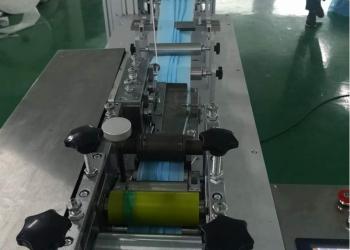 Станок для изготовления масок 85-130 штук в минуту. Линия автомат.