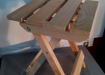 Табурет садовый складной, деревянный