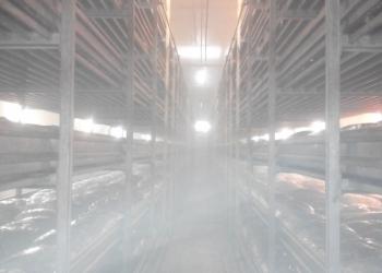 Система тумана для увлажнения воздуха при выращивании грибов