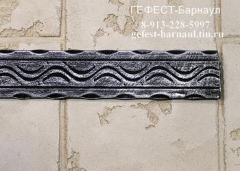 Полоса декоративная кованая 40х4 кора,волна,дерево