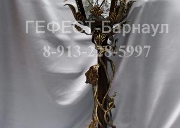 Кованые фонари, кованая люстра, светильник, под заказ в Барнауле