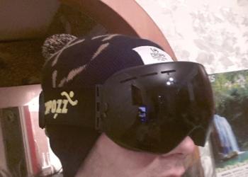Профессиональная горнолыжная маска (all black)