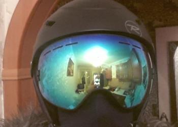 Ультралегкая сноубордическая маска (light blue)