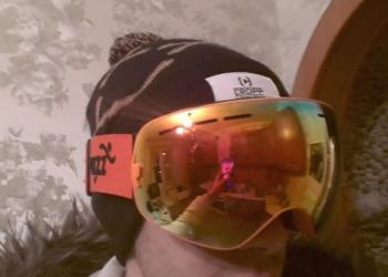 Ультралегкая сноубордическая маска (red)