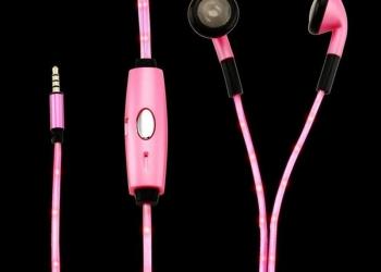 Стильные светящиеся наушники Light Glow Sport.