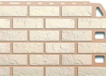 Сайдинг (панель) Альта-профиль, кирпич белый