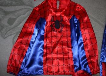 Новогодний костюм человек паук р.116-122 новый