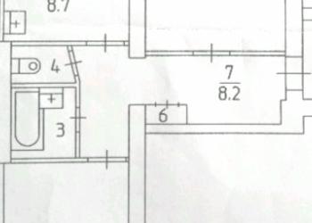 2-к квартира, 55 м2, 4/5 эт.