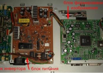 Блоки ЖК-телевизоров main, питания, тайкон.Челябинская обл