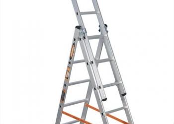 Лестница-стремянка трехсекционная алюмет 3х12