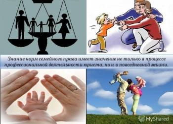 Семейное право Горячее предложение по семейным вопросам