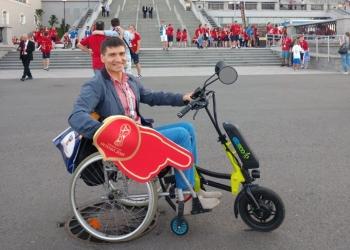 Электрический привод для инвалидной коляски