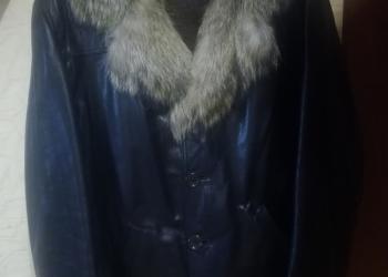 Куртка (дубленка) зимняя мужская. Нат.кожа, нат.мех