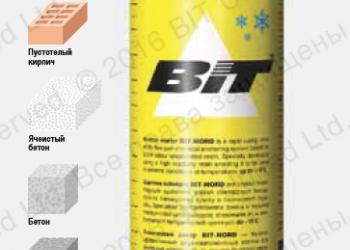 Химический анкер BIT-NORD для низких температур