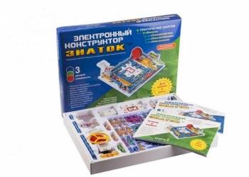Подарок ребенку от 5 лет и более. Электронный конструктор ЗНАТОК: 999 СХЕМ+ШКОЛА