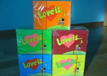 Жвачка Love is 100 шт подарок