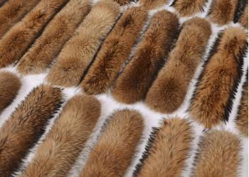 Меховые опушки на капюшон из меха финского енота